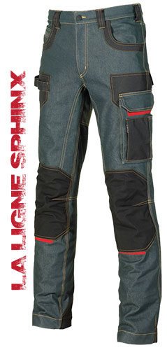 Jeans de travail PLATINUM BUTTON IMS 43PB